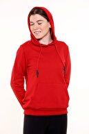 MARIQUITA Kadın Kırmızı Kapüşonlu Sweatshirt