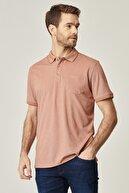Altınyıldız Classics Erkek KIREMIT-BEJ Polo Yaka Cepli Regular Fit Bol Kesim Düz Tişört
