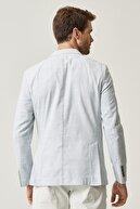 Altınyıldız Classics Erkek Mınt Slim Fit Desenli Ceket
