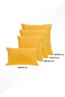 ÖZENEV Sarı Kırlent Kılıfı Dekoratif Düz Sade Panoroma-344