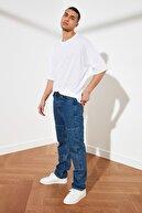 TRENDYOL MAN Lacivert Erkek Straight Fit Jeans TMNSS21JE0048
