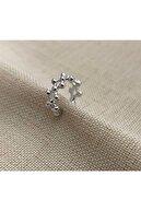 Markiz Takı Kadın Gümüş Çarpraz Kıkırdak Küpe