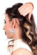 LABALABA Kadın Gümüş Renk Kaplama Telkari Koleksıyonu Küpe