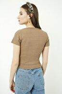 Vis a Vis Kadın Camel Yaka Detaylı Kaşkorse Bluz STN904KBL158