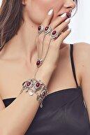 ZeyDor Accessories Kadın Üç Yüzüklü Taşlı Şahmeran