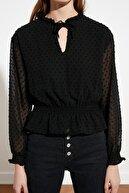 TRENDYOLMİLLA Siyah Balon Kol Bluz TWOSS21BZ0348