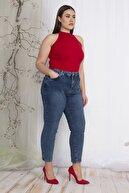 Şans Kadın Lacivert 5 Cepli Bilek Boy Likralı Kot Pantolon 65N22353