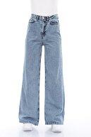 Meissa Mavi Kar Yıkama Bol Paça Jeans
