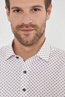 Altınyıldız Classics Erkek Kahverengi Tailored Slim Fit Baskılı Gömlek