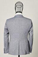 Altınyıldız Classics Erkek Lacivert Slim Fit Dar Kesim Desenli Lacivert Su Geçirmez Nano Takım Elbise