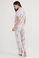 Penti Kadın Açık Lila Lilac Floral Pijama Takımı