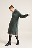 Love My Body Kadın Yeşil Balıkçı Yaka Triko Tunik