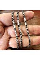 ENCİLİ SİLVER 925 Ayar Gümüş Kral Zincir Yuvarlak Kral Model Kolye 2.8 mm