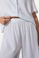 Oysho Puantiye Desenli Culotte Pantolon %100 Pamuklu