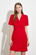 TRENDYOLMİLLA Kırmızı Ceket Elbise TWOSS21EL0323