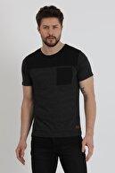 Slazenger Benny Erkek T-shirt Siyah St11te107