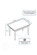 rovena Beyaz Lera Serisi Ahşap Ayaklı Mutfak Masası