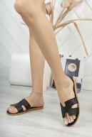 Modafırsat Kadın Siyah Hermes Model Terlik