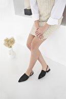 Straswans Retta Kadın Triko Detay Topuklu Sandalet Siyah