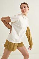 adL Kadın Kemik Kolları Kontrast Renkli Sweatshirt