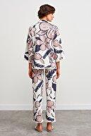 Join Us Beli Lastikli Desenli Triko Pantolon-multi