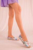 Soho Exclusive Beyaz-Renkli Kadın Babet 14634
