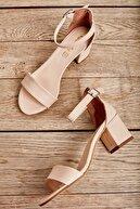 Bambi Pudra Kadın Klasik Topuklu Ayakkabı K01503724009