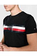 Tommy Hilfiger Erkek  Stripe Print Logo Men  T-shirt