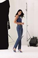 Pantamo Jeans Kadın Mavi Pantalon