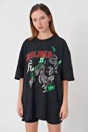 Addax Baskılı T-shirt P9379 - M7