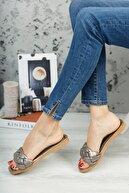 Modafırsat Kadın Platin Örgü Detaylı Şık Ayakkabı