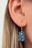 Reina Accessorize Kadın Mavi Ayıcıklı Altın Kaplama Jelibon Küpe