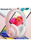 Torima P68 Bluetooth Kablosuz Stereo Kulaklık Pembe