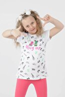 Ahenk Kids Kız Çoçuk Beyaz Hug Me Baskılı Taytlı Takım 621721107