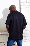 Densmood Erkek Siyah New Future Yazılı Pamuklu Oversize Kesim T-shirt