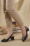 LENAY Kadın Siyah-cilt Arkası Açık Topuklu Ayakkabı...