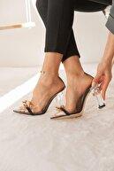 SHOEBELLAS Lima Kadın Siyah Zincirli Topuklu Ayakkabı