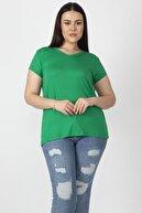Şans Kadın Yeşil V Yakalı Viskon Bluz 65N22538