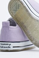 Tonny Black Lila Çocuk Spor Ayakkabı Cırtlı Tb997