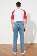 TRENDYOL MAN Mavi Erkek Straight Fit Jeans TMNSS21JE0049