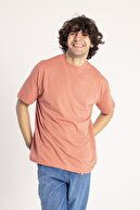 XHAN Yavruağzı Yakası Kalın Ribanalı Oversize T-Shirt 1KXE1-44667-21