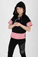 Ahenk Kids Kız Çocuk Summer Baskılı Taytlı Takım