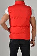 Fk class Erkek Kırmızı Crozvise Mat Kumaş Şişme Yelek