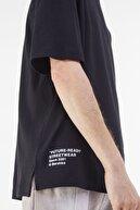 Bershka Erkek Siyah Future-Ready Box Fit T-shirt