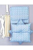 mordesign Eko Tavana Asılan Ahşap Çocuk Salıncak Mavi
