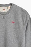 Levi's Erkek Gri New Orıgınal Crew Tr Chısel  Heath Sweatshirt