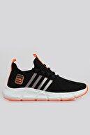zincirport Siyah Orange Unisex Ortopedik Spor Sneaker Ayakkabı