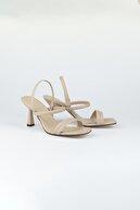 Tripy Kadın Çift Bantlı Topuklu Ayakkabı