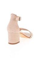 Bambi Bej Süet Kadın Klasik Topuklu Ayakkabı K01503724072