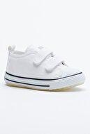 Tonny Black Beyaz Çocuk Spor Ayakkabı Cırtlı Tb997